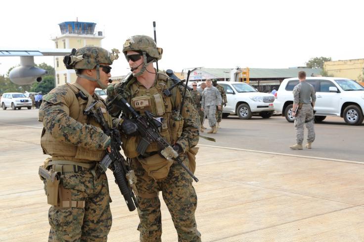 Marines evacuate embassy in South Sudan